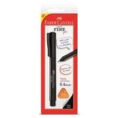 Caneta Hidrográfica Fine Pen Preta 0.4mm 1 UN Faber Castell