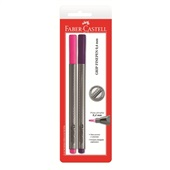 Caneta Hidrográfica Fine Pen Rosa e Roxa 0.4mm 2 UN Faber Castell