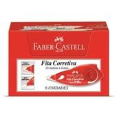 Corretivo em Fita 4mm x 10m 6 UN Faber Castel