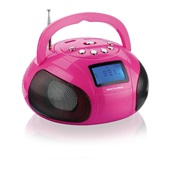 Caixa de Som Mini Boom Box 10W Rosa SP146 Multilaser