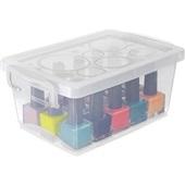 Mini Caixa Organizadora com Travas 1,5L Cristal 19,7x11,8x9cm 1 UN Ordene