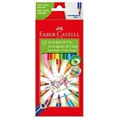Lápis de Cor Triangular Super Ponta 12 Cores Faber Castell