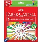 Lápis de Cor Triangular Super Ponta 24 Cores Faber Castell