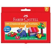 Massa de Modelar Base de Cera 180g 12 UN Faber Castell