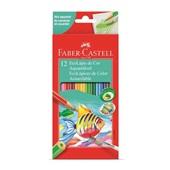 Lápis de Cor Aquarelável 12 Cores Faber Castell
