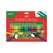 Caneta Hidrográfica Colorir Grip 24 Cores Faber Castell