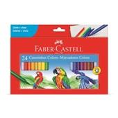 Caneta Hidrográfica Colorir 24 Cores Faber Castell