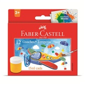 Tinta Guache 12 Cores 15ml Faber Castell