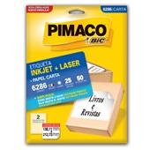 Etiqueta Adesiva InkJet e Laser Carta 212,73x138,11mm Branco 6286 CX 50 UN Pimaco