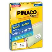 Etiqueta Adesiva InkJet e Laser A4 38x1x63,5mm Branco A4360 CX 2100 UN Pimaco