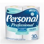 Papel Higiênico Folha Simples 30m Branco PT 4 RL Personal