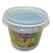 Massa de Modelar Soft Azul 150g 1 UN Acrilex