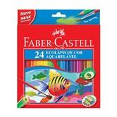 Lápis de Cor Aquarelável 24 Cores Faber Castell