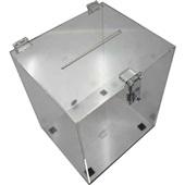 Urna Acrílica Cubo Médio 17x20x26cm 1 UN Acrinil