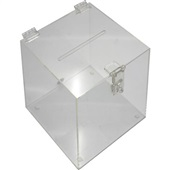 Urna Acrílica Cubo Pequeno 16x14x20cm 1 UN Acrinil