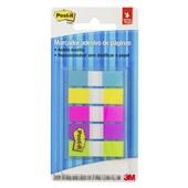 Marcador de Página Adesivo Flags 5 Cores Neon 11,9 mm x 43,2 mm 100 folhas Post-it