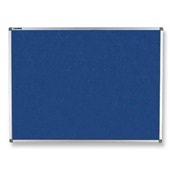 Quadro de Aviso Feltro e Alumínio Azul 90x120cm 1 UN Board Net