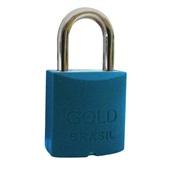 Cadeado Color com 2 Chaves 20mm Azul 1 UN Gold