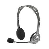 Headset Stereo com Microfone P2 Cinza H110 1 UN Logitech