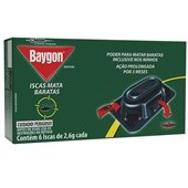 Inseticida Iscas Mata Barata 2,6g Cada CX 6 UN Baygon