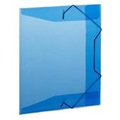 Pasta Aba Elástico Meio Ofício Azul 245x180mm1 UN Plascony
