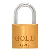 Cadeado em Latão com 2 Chaves 35mm 1 UN Gold