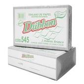 Papel Toalha Interfolha 2 Dobras 23x21cm Reciclado Branco PT 1000 FL Dubbon
