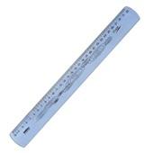 Régua Flexível Azul 30cm 1 UN Waleu