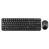Teclado e Mouse Wireless 2.4Ghz Multimídia USB Preto TC183 1 UN Multilaser