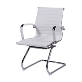 Cadeira Fixa Charles Eames em PU Base S Branca OR Design