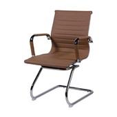 Cadeira Fixa Charles Eames em PU Base S Caramelo OR Design
