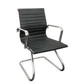 Cadeira Fixa Charles Eames em PU Base S Preta OR Design