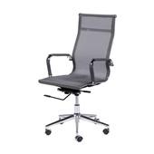 Cadeira Giratória Charles Eames em Tela Mesh Alta Cinza OR Design