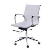 Cadeira Giratória Charles Eames em Tela Mesh Baixa Branca 1 UN OR Design