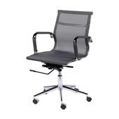 Cadeira Giratória Charles Eames em Tela Mesh Relax Baixa Cinza OR Design