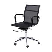Cadeira Giratória Charles Eames em Tela Mesh Baixa Preta OR Design