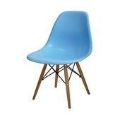 Cadeira Eames em Polipropileno Base Madeira Azul OR Design