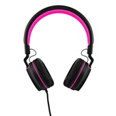 Headphone Over Ear Wired Fun P2 Preto e Rosa PH160 1 UN Pulse