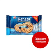 Biscoito Amanteigado Leite Sachês de 9g CX 180 UN Renata