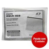 Pasta Multiuso A4 com Zíper 330x240mm Transparente PT 12 UN ACP