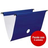 Pasta Suspensa DelloPlus Triplex Plastificada 360x240mm Azul Escuro PT