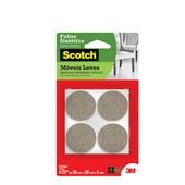 Protetor Adesivo Feltro Sintético Scotch Redondo Marrom Grande 4 UN 3M