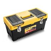 Caixa Plástica para Ferramentas 240mmx508mmx240mm Preto e Amarelo Tramontina
