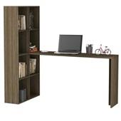 Mesa Escrivaninha com Estante Carvalho 149x69x135cm 1 UN BRV