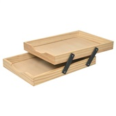 Caixa de Correspondência Dupla Madeira Pinus 1 UN Souza