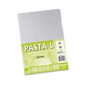 Pasta em L  A4 Gofrado Cristal 220x307mm PT 10 UN Chies