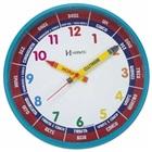 Relógio de Parede Educativo Azul Turquesa 26x26x4cm 1 UN Herweg