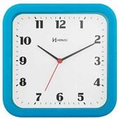 Relógio de Parede Quadrado Azul Turquesa 23x23x4cm 1 UN Herweg
