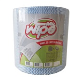 Pano de Limpeza Leve Multiuso 30cmx300m Rolo com 600 Panos Azul MR Wipe