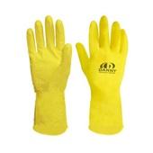 Luva de Proteção Confort Látex Multiuso P Amarela C.A 15532 1 Par Danny
